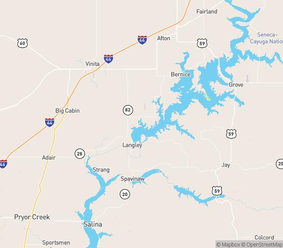 Map of Strang, OK