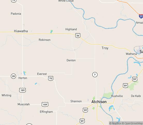 Map of Kincaid, KS