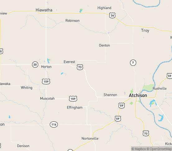 Map of Huron, KS