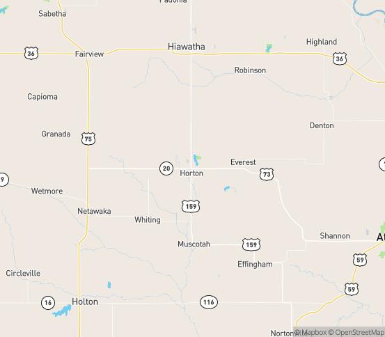 Map of Horton, KS