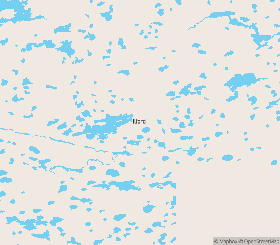 Map of Ilford, MB