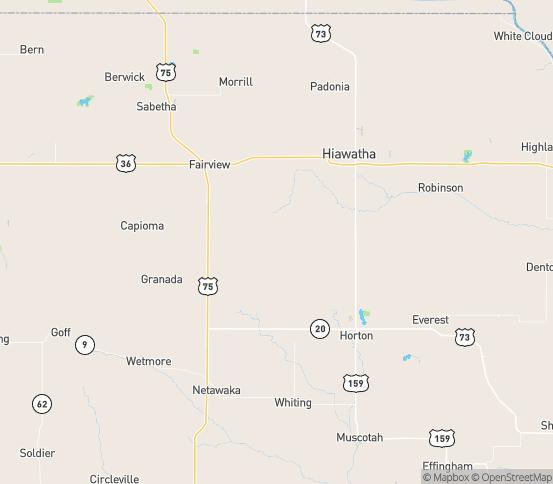 Map of Powhattan, KS