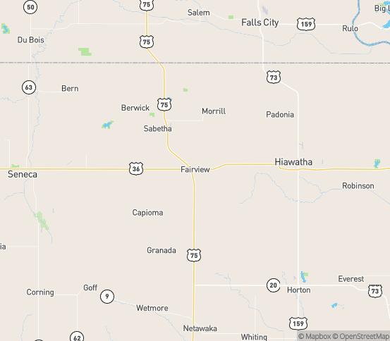 Map of Fairview, KS