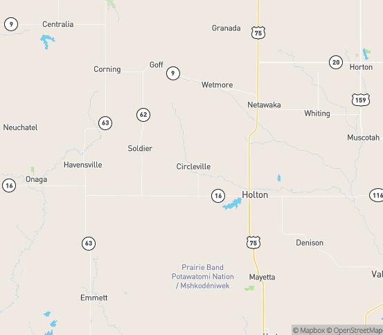 Map of Circleville, KS