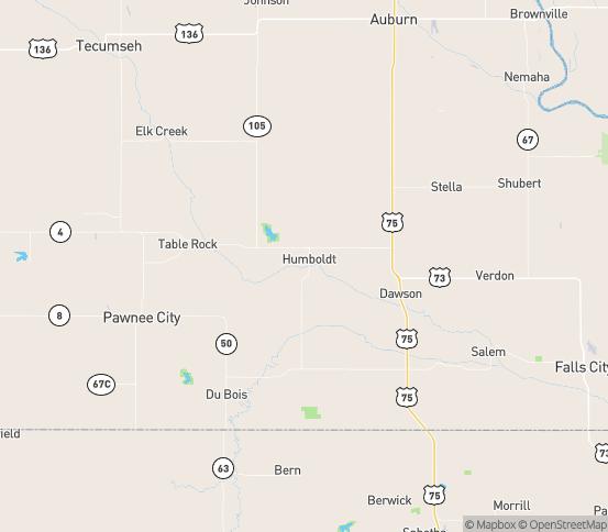 Map of Humboldt, NE