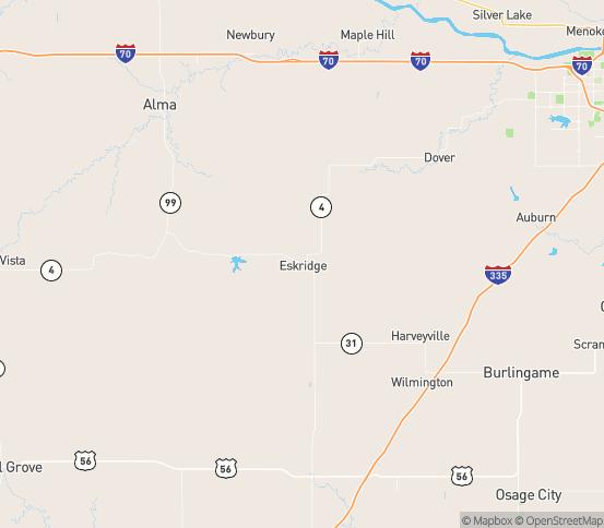 Map of Eskridge, KS