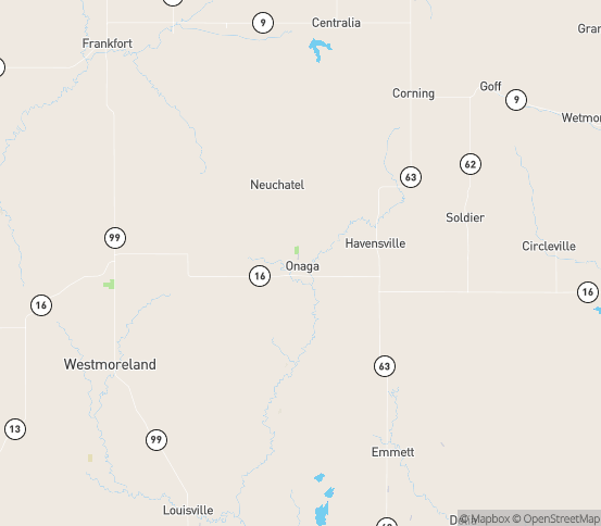 Map of Onaga, KS