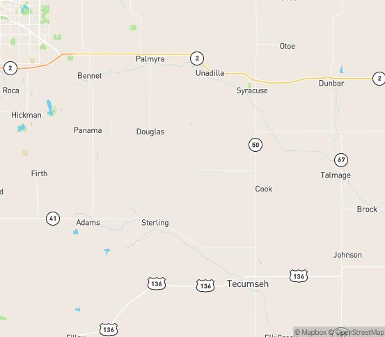 Map of Burr, NE