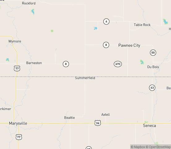 Map of Liberty, NE