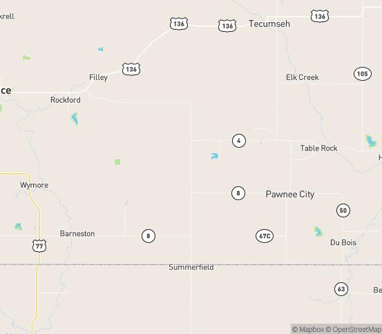 Map of Burchard, NE