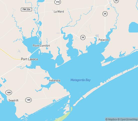 Map of Palacios, TX