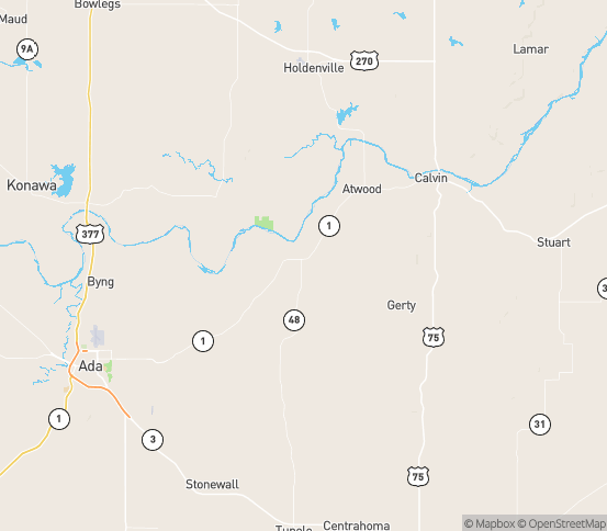 Map of Atwood, OK