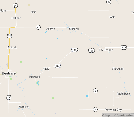 Map of Crab Orchard, NE