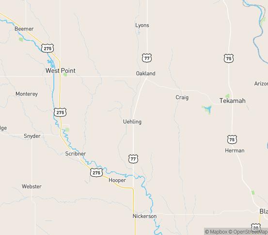 Map of Hooper, NE