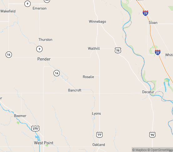 Map of Rosalie, NE