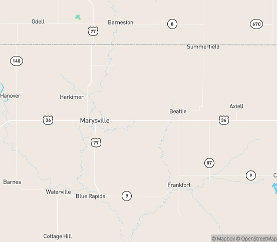 Map of Home, KS