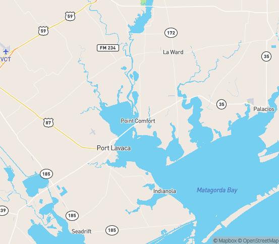 Map of Port Lavaca, TX