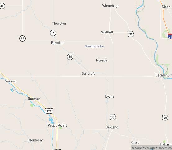 Map of Bancroft, NE