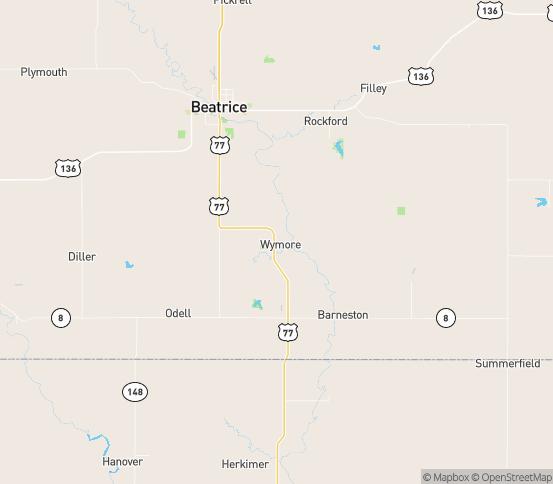 Map of Wymore, NE