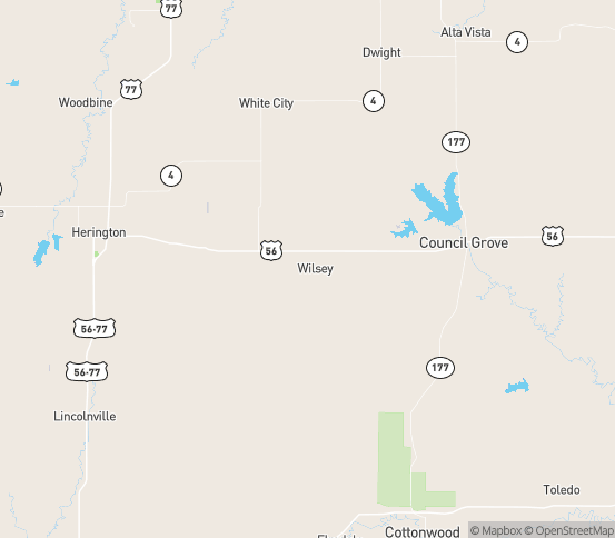 Map of Wilsey, KS