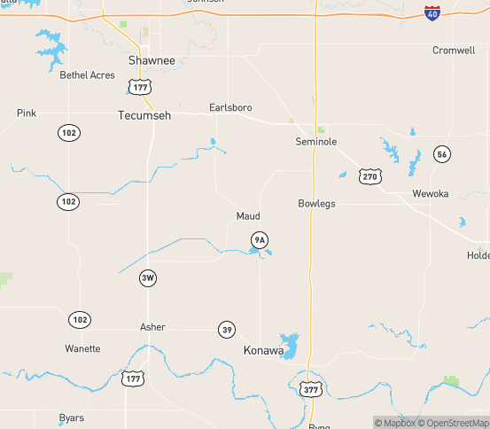 Map of Maud, OK