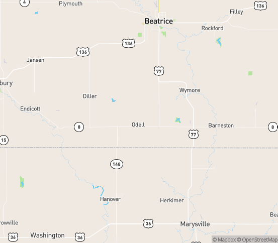 Map of Bremen, KS