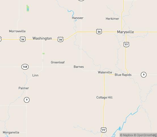 Map of Barnes, KS