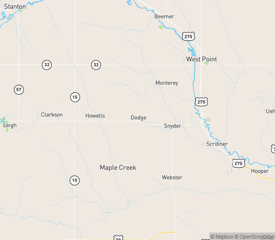 Map of Dodge, NE