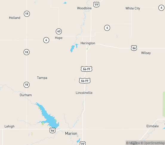 Map of Burdick, KS