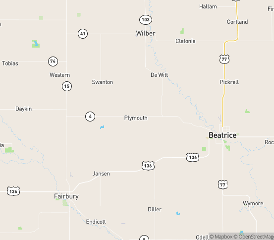 Map of Plymouth, NE