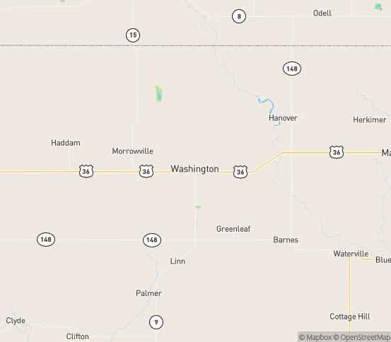 Map of Washington, KS
