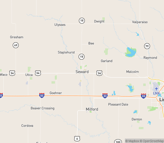 Map of Seward, NE