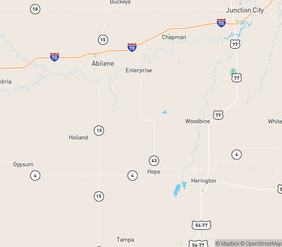 Map of Hope, KS