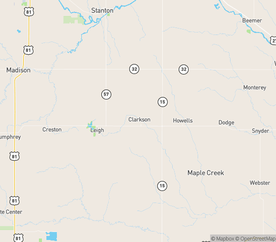 Map of Clarkson, NE
