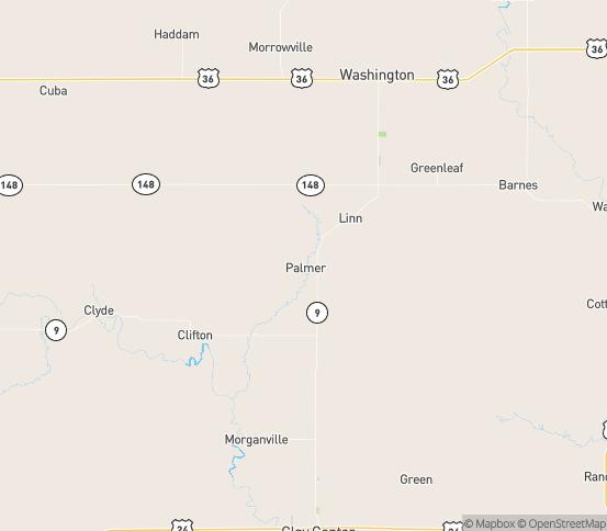 Map of Palmer, KS
