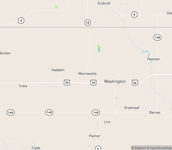 Map of Morrowville, KS