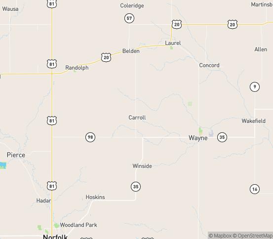 Map of Carroll, NE