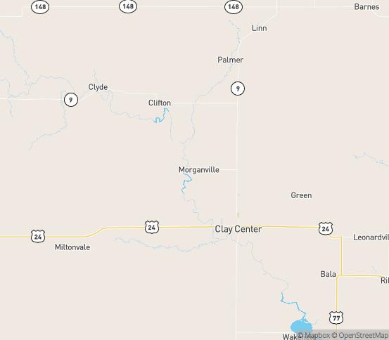Map of Morganville, KS