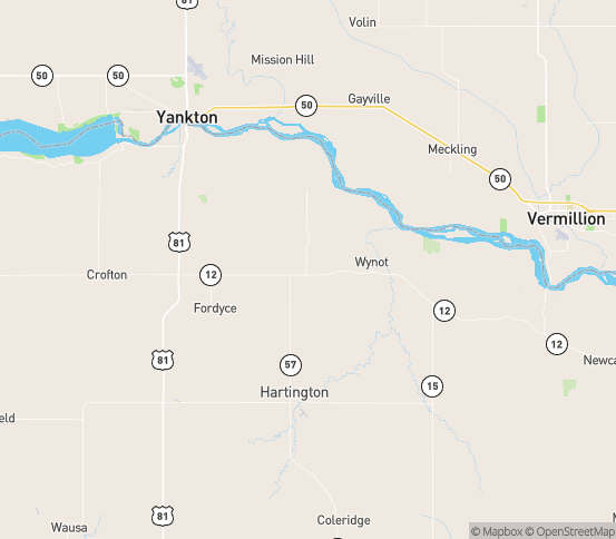 Map of Wynot, NE