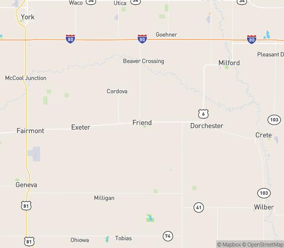 Map of Friend, NE