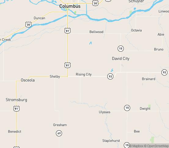 Map of Rising City, NE