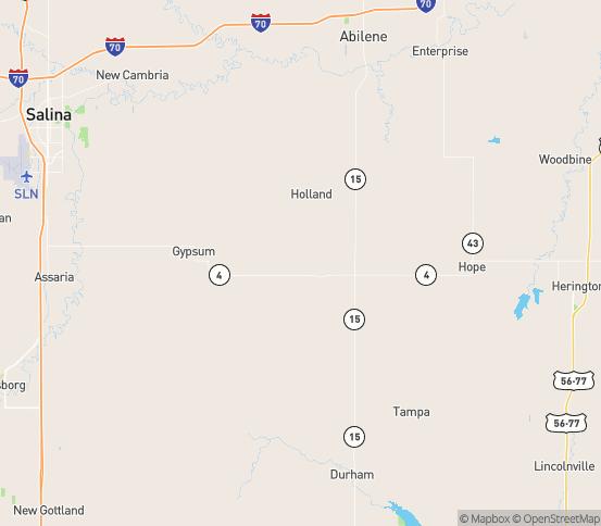Map of Gypsum, KS