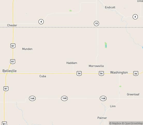 Map of Haddam, KS