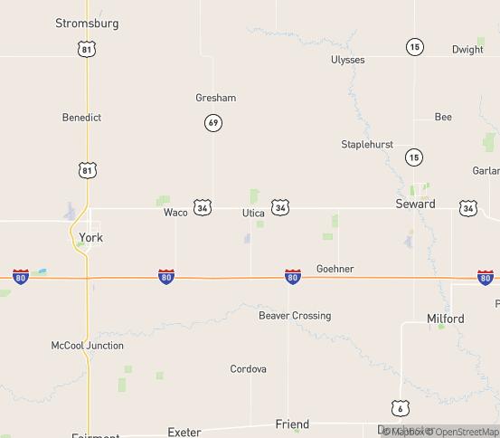 Map of Utica, NE