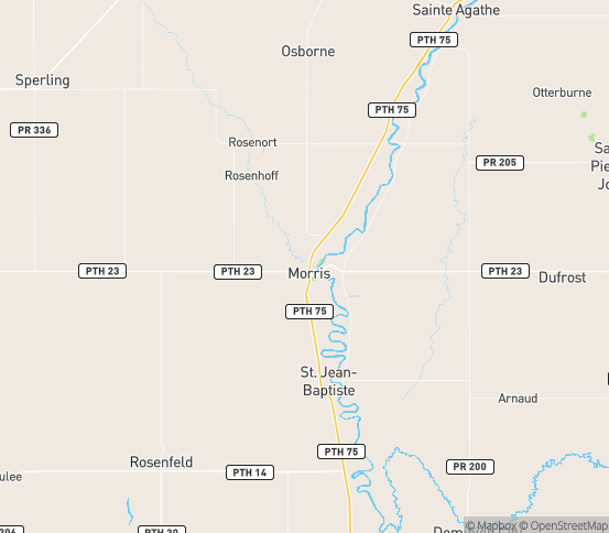 Map of Letellier, MB