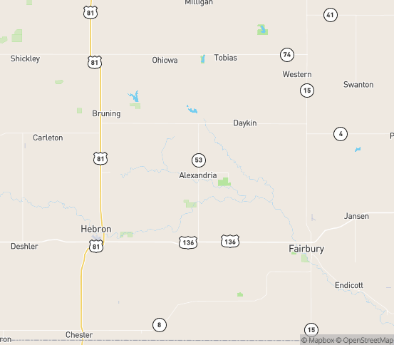 Map of Alexandria, NE