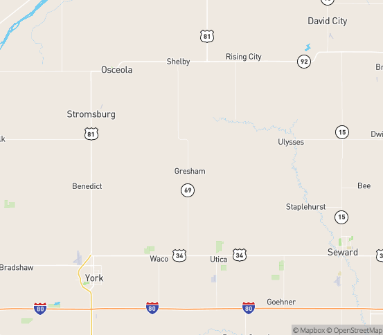 Map of Gresham, NE