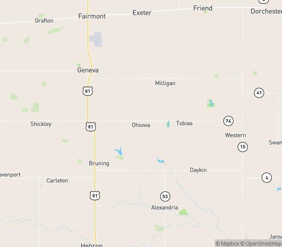 Map of Ohiowa, NE