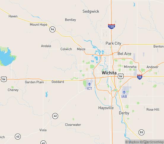 Map of Wichita, KS