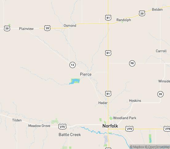 Map of Pierce, NE